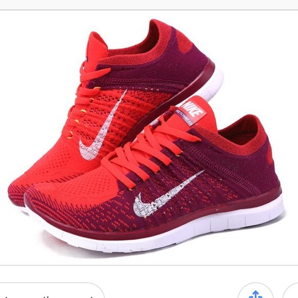 df64e39da23 Nike Free Flyknit 4.0 Red Running shoe. M 5b84990ddcfb5a30620c492b